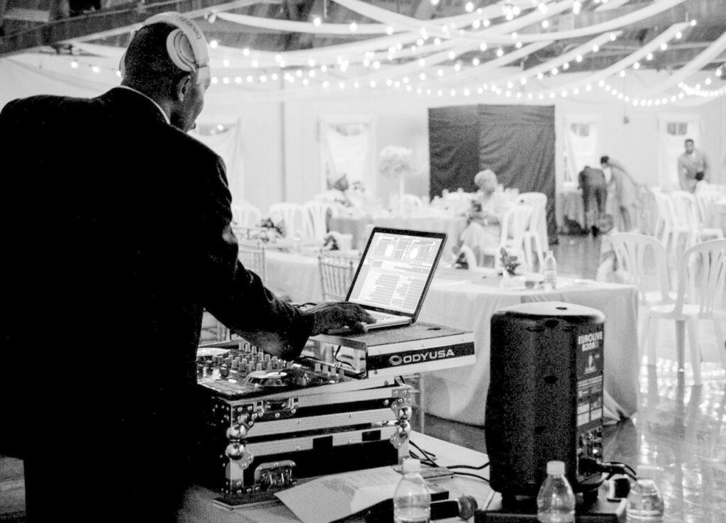 DJ at a wedding.