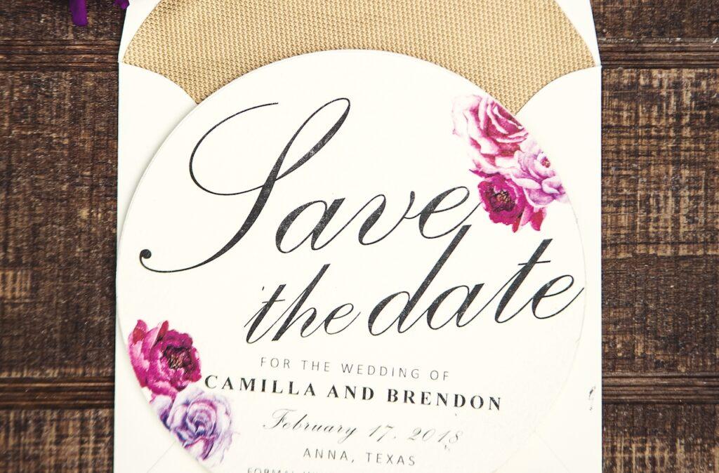 Example of a wedding invitation.