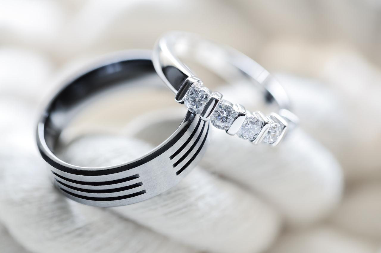 silver wedding bands